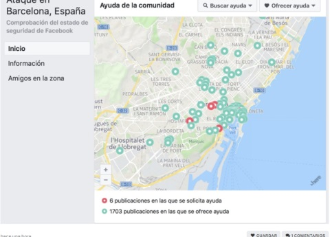 "Facebook activa el ""Safety Check"" en Barcelona"