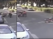 Captan robo de motocicleta en Echegaray (VIDEO)