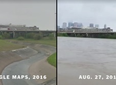 Houston antes y después de Harvey (VIDEO)