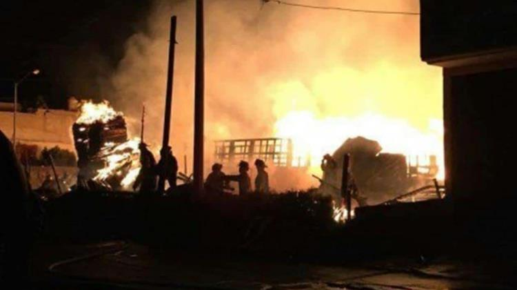 Video: Registran incendio en Tultepec