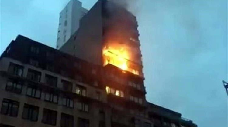 Video: Reportan incendio en edificio de Manchester