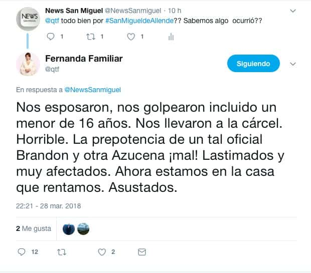 #Video Detienen en San Miguel de Allende a Fernanda Familiar