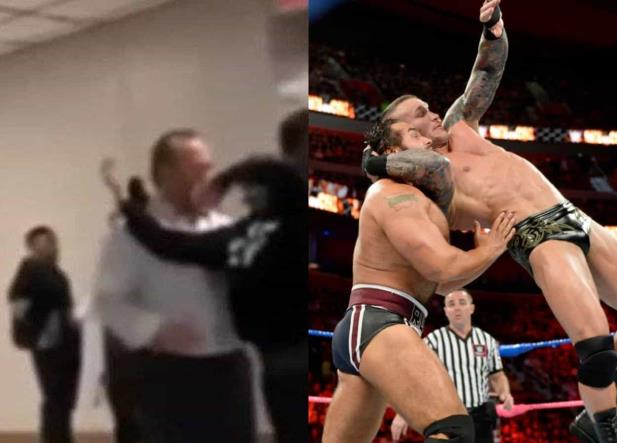 Joven intenta aplicar llave de Randy Orton a su director y termina arrestado (VIDEO)