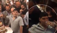 (VIDEO) Captan a Maradona en pésimo estado durante fiesta en su honor en Nápoles