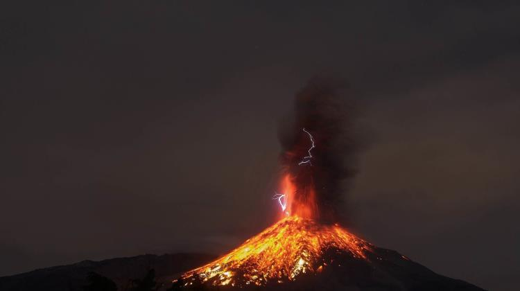 Living in suspense, reverence under Colima Volcano of Fire