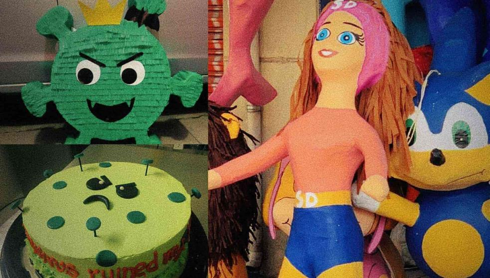 Products in covid shapes, the new trend of the pandemic Piñatas