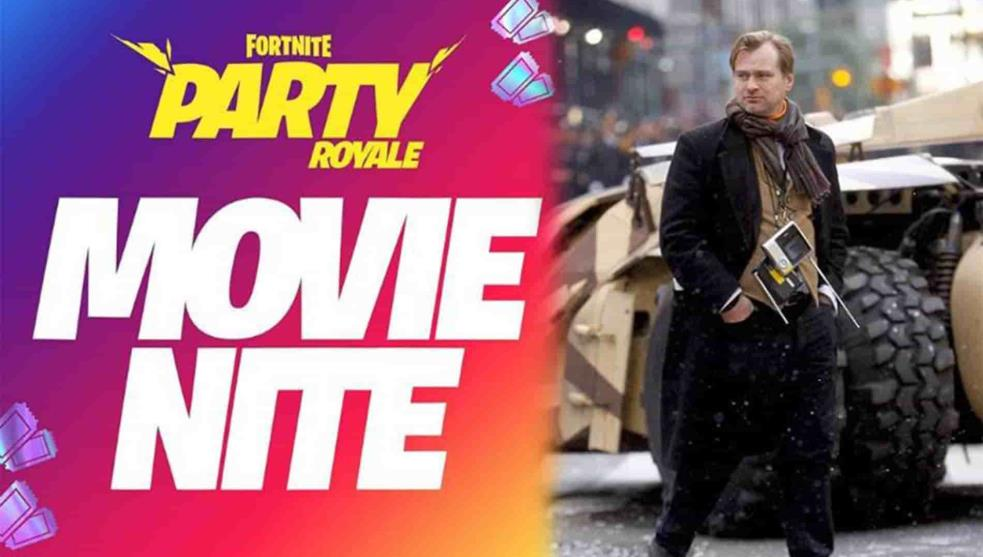Christopher Nolan en Fortnite; proyectarán sus películas en Movie Nite
